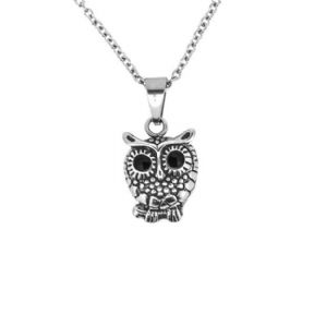 Owl Stainless Steel Pendant 1068